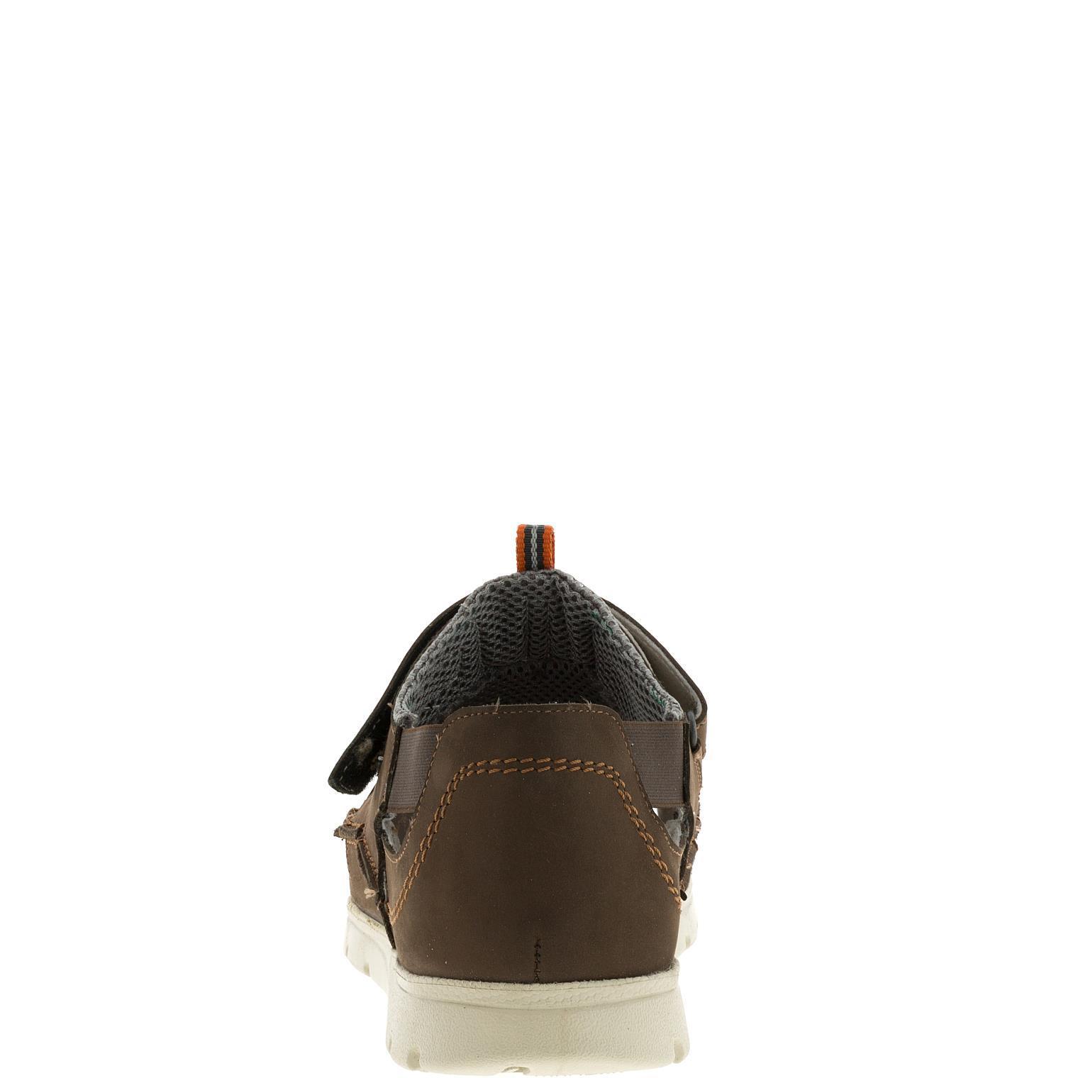 586285 Сандалии мужские коричневые больших размеров марки Делфино