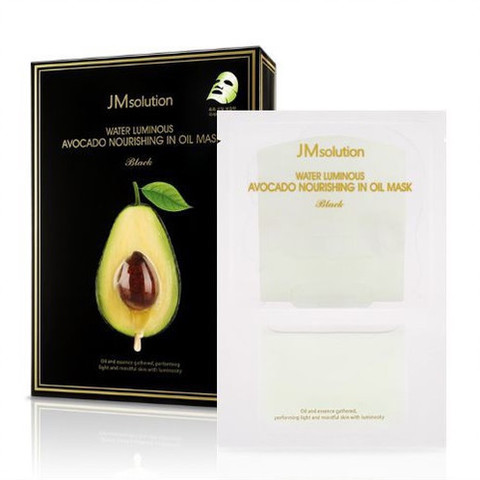 JMsolution Water Luminous Avocado Nourishing in Oil Mask Black Тканевая маска с экстрактом авокадо 28мл