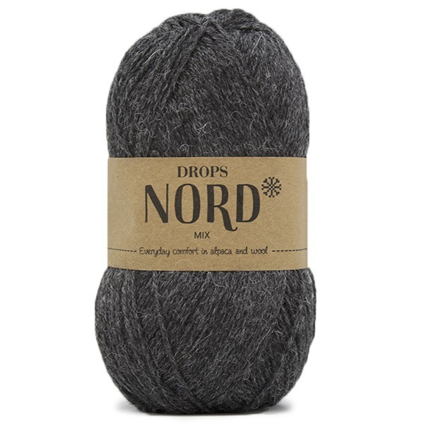 Пряжа Drops Nord 06 темно-серый
