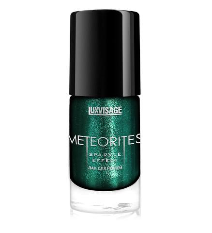 LuxVisage Meteorites Лак для ногтей тон 610 (Изумрудный дождь) 9г