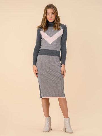 Женский свитер темно-серого цвета из 100% шерсти - фото 5