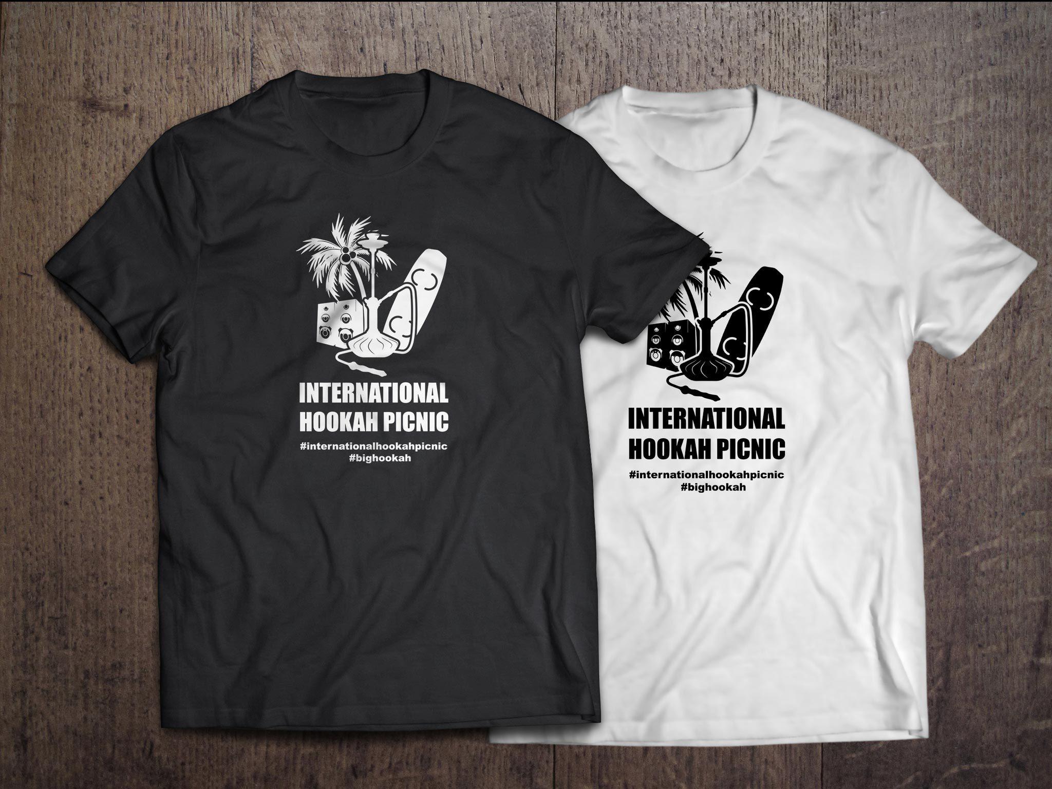 Футболка женская International Hookah Picnic белая