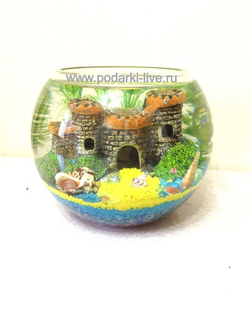 Мини аквариум шар 5 л