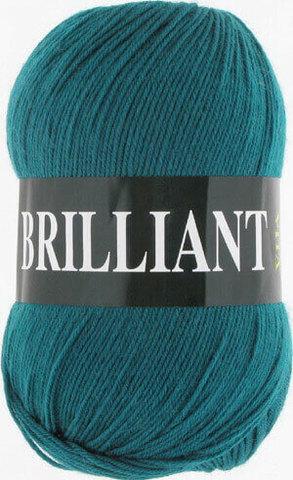 Пряжа Brilliant Vita 4981 темная зеленая бирюза фото