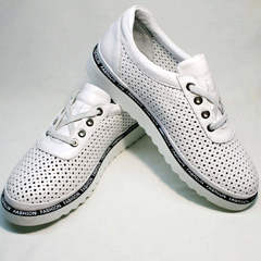 Модные спортивные туфли кроссовки повседневные женские Evromoda 215.314 All White.