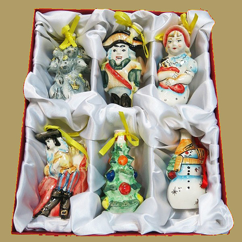 Набор ёлочных игрушек (мини-штофов) из 6 штук