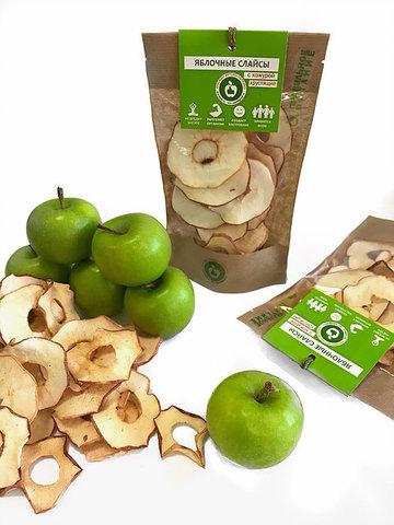 Яблочные слайсы хрустящие с кожурой 25 грамм