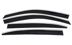 Дефлекторы боковых окон Fresh Wind для Chevrolet Captiva (2006-2012) с нержавеющим молдингом № BCVCP0923