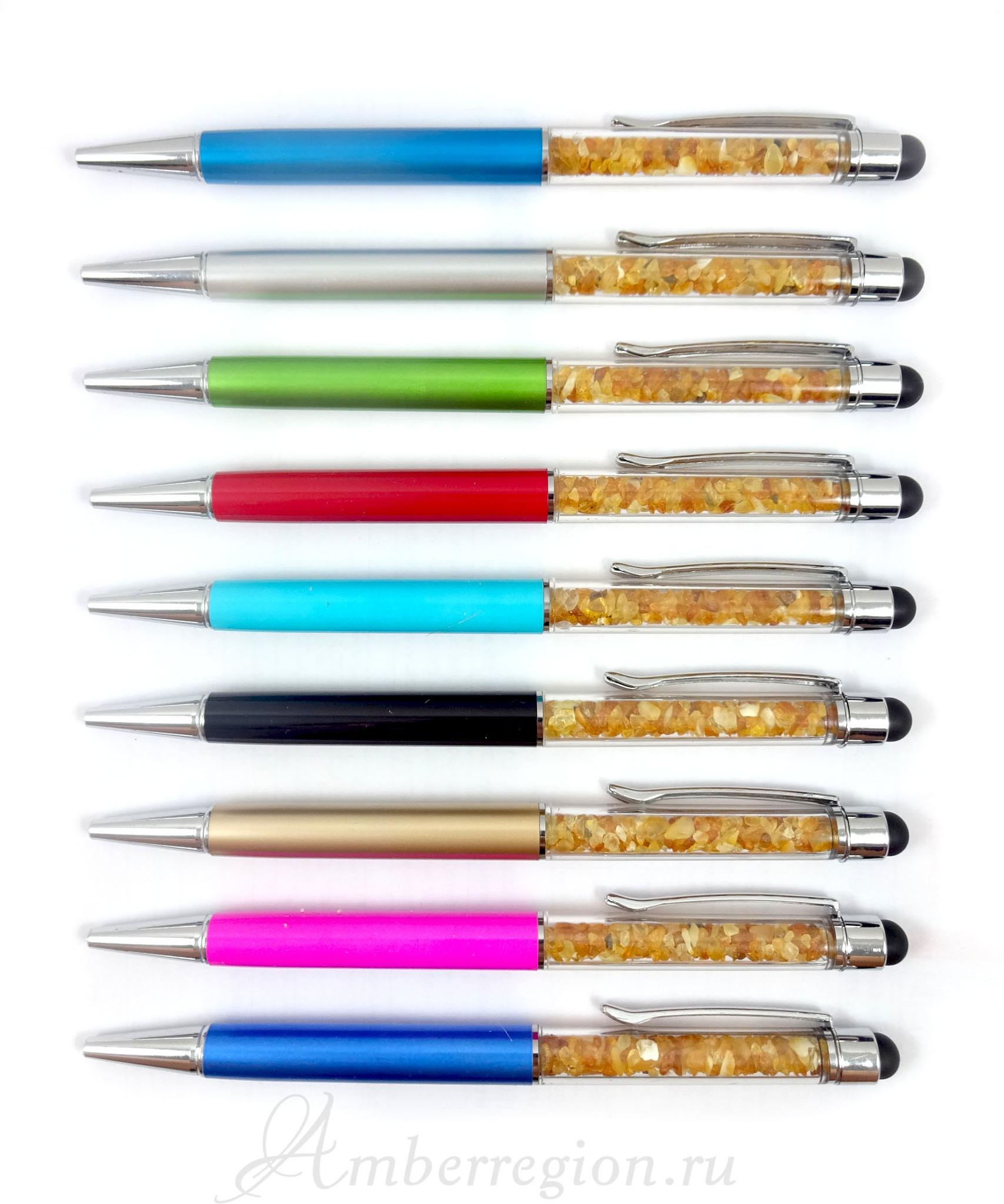 Янтарная ручка-стилус в ассортименте