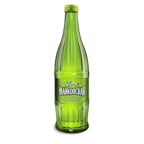 """Минеральная вода """"Майкопская"""" стекло 0,5л."""