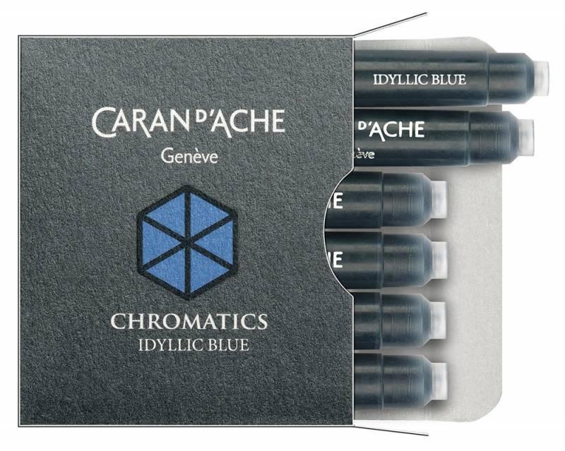 Carandache Чернила (картридж), синий, 6 шт в упаковке