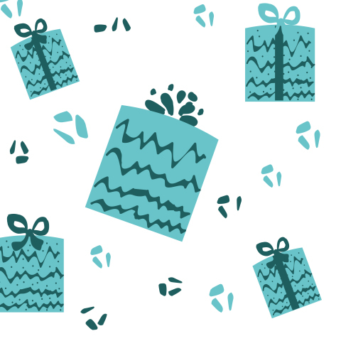 Подарки. Коробки с подарками на белом фоне.