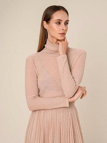Женский свитер бежевого цвета из вискозы - фото 2