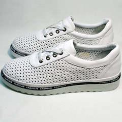Женские спортивные туфли модные летние кроссовки Evromoda 215.314 All White.