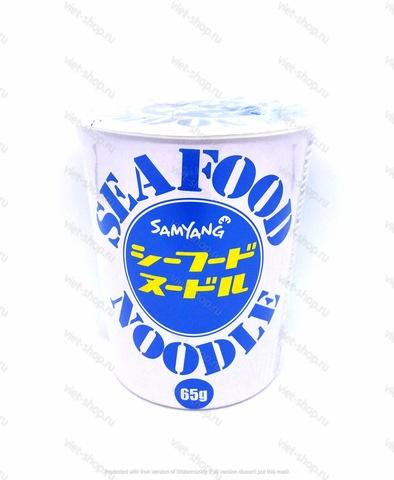 Лапша SEAFOOD NOODLE Samyang, со вкусом морепродуктов в стакане, 65 гр.