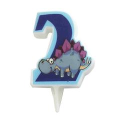 MC Свеча Цифра 2 Динозавр 5см