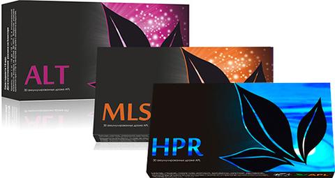 APL. Стартовый набор аккумулированных драже APLGO. ALT+MLS+HPR для восстановления и защиты печени
