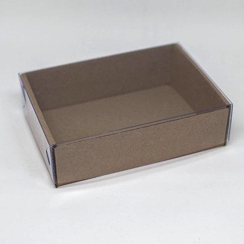 Коробка для мыла крафт-картон с прозрачной крышкой