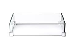 Ветрозащитный декоративный экран для квадратного стола-камина