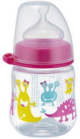 Бутылочка пластиковая с соской из силикона, 150 мл NIP