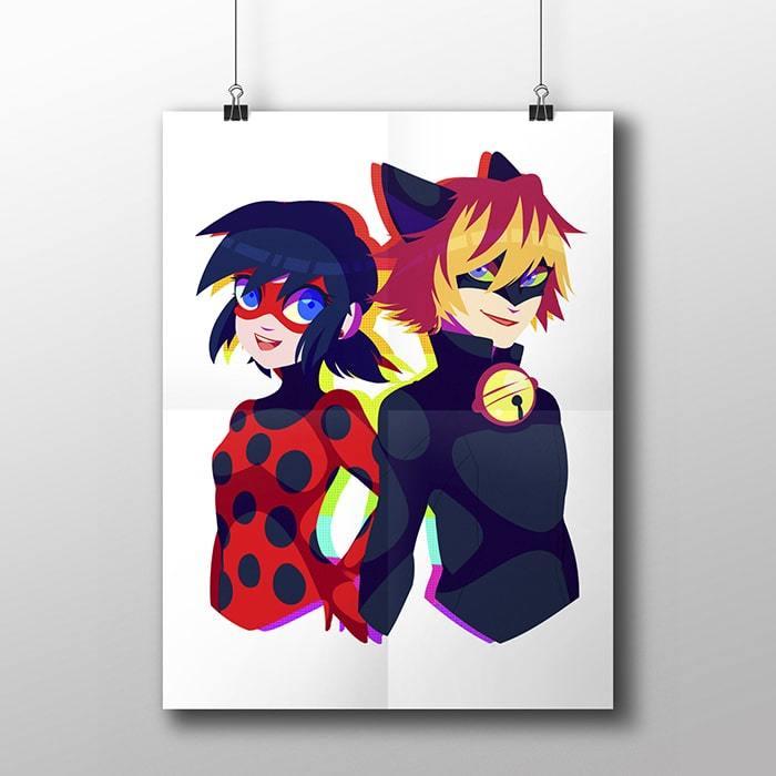 Плакат с Леди Баг и Супер Котом - купить в интернет-магазине kinoshop24.ru c быстрой доставкой