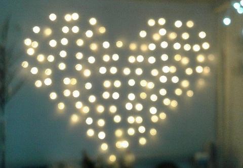 Гирлянда светодиодный занавес Сердце 2*1,5