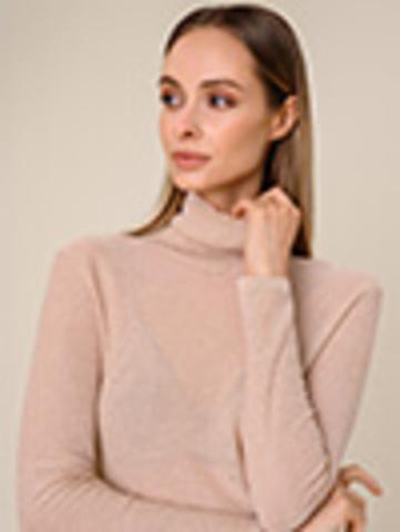 Женский свитер бежевого цвета из вискозы - фото 3