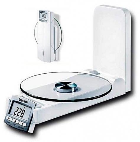 Весы кухонные настенные с часами Beurer KS52