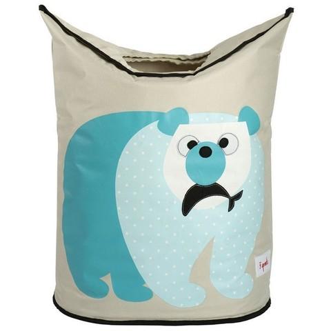 Корзина для белья 3 Sprouts Полярный мишка (Polar Bear) 71863