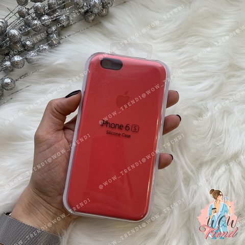 Чехол iPhone 6/6s Silicone Case /red raspberry/ ягодный 1:1