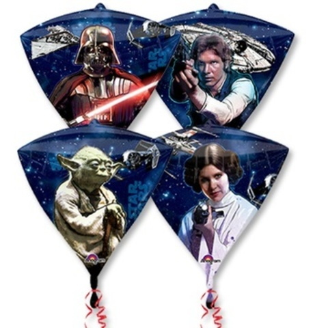 Фольгированный шар Алмаз Звездные Войны