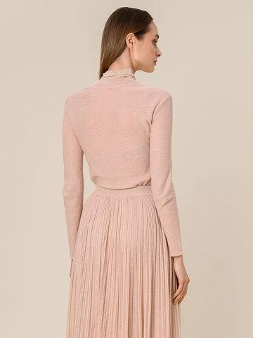 Женский свитер бежевого цвета из вискозы - фото 4