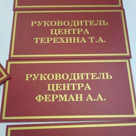 Таблички офисные 30х15см