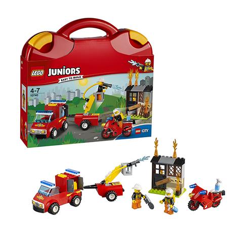 LEGO Juniors: Чемоданчик «Пожарная команда» 10740 — Fire Patrol Suitcase — Лего Джуниорс Подростки