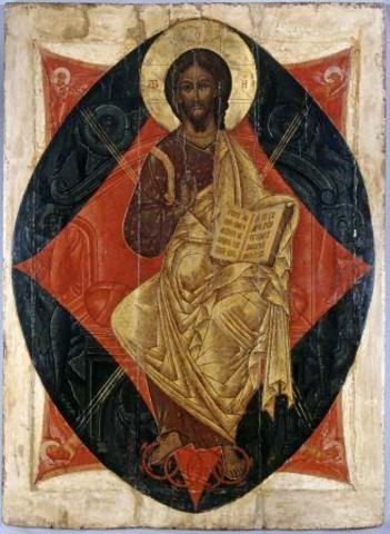 Икона Спас в Силах на левкасе на дереве мастерская Иконный Дом