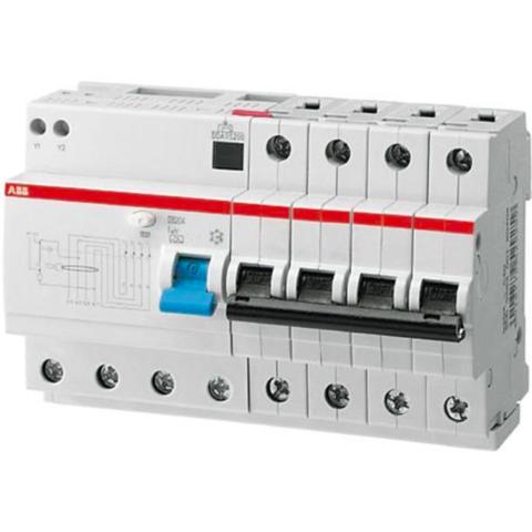 Дифф. автомат. выключатель 4-полюсный 10 А, тип A, 10 кА DS204 M A-C10/0,03. ABB. 2CSR274101R1104