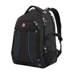 Рюкзак Swissgear 15'',чёрный/синий, 36x19x47 см, 32 л