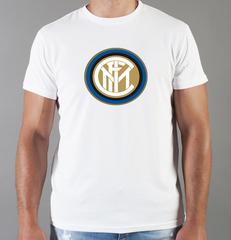 Футболка с принтом FC Internazionale (ФК Интернационале) белая 006