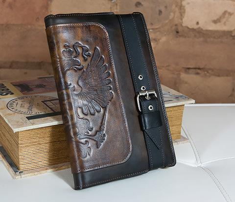 BC120 Подарочный ежедневник в кожаной обложке с большим гербом России