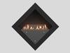 черный Настенный биокамин Lux Fire
