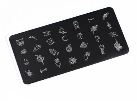 OTE-031 Пластина для стемпинга. Echo: Tattoo #2