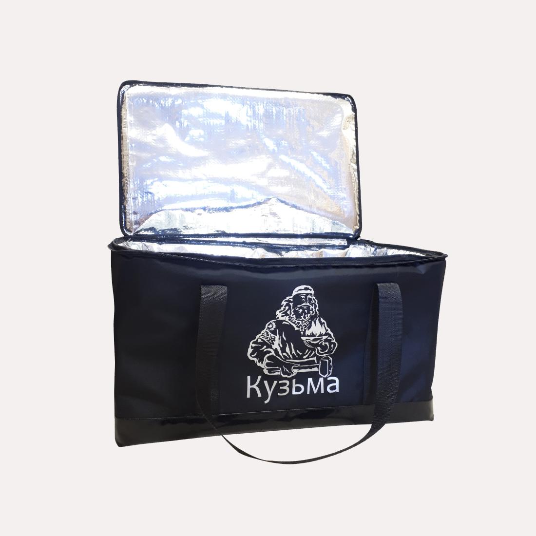 Сумка термос для теплообменника КУЗЬМА (черная)