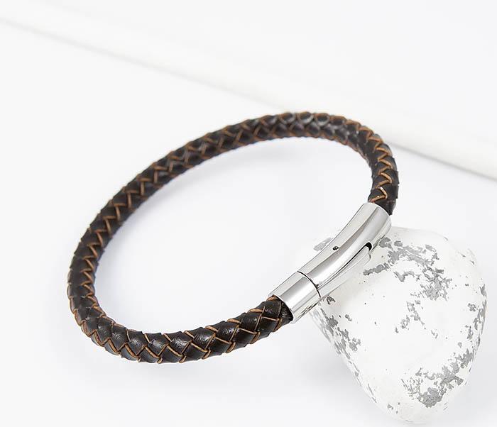 BM517-2 Браслет из коричневого шнура на застежке (22 см) фото 05