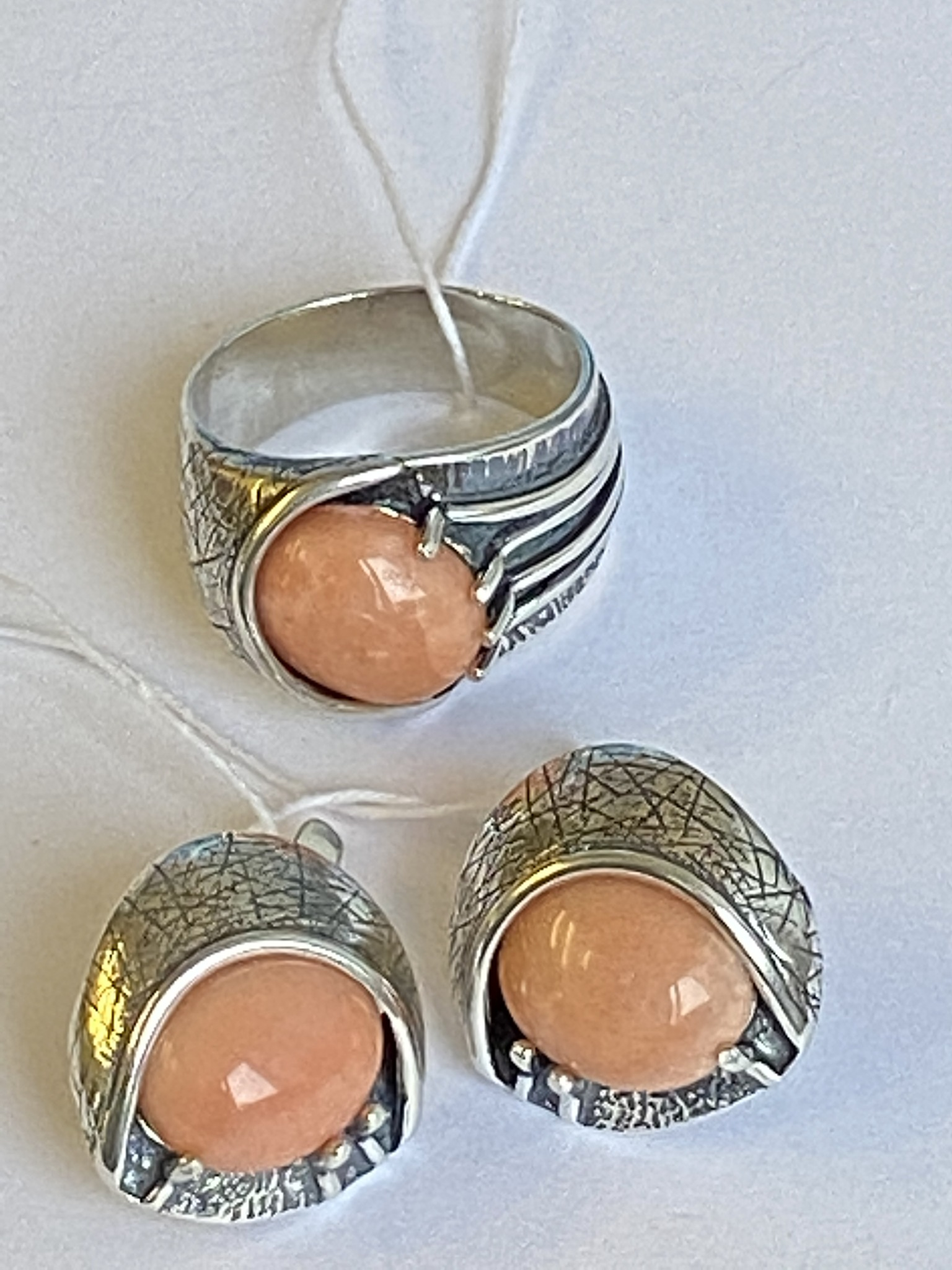 Девика (кольцо + серьги из серебра)