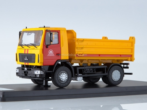 MAZ-5550 tipper MosMetro yellow-red 1:43 Start Scale Models (SSM)