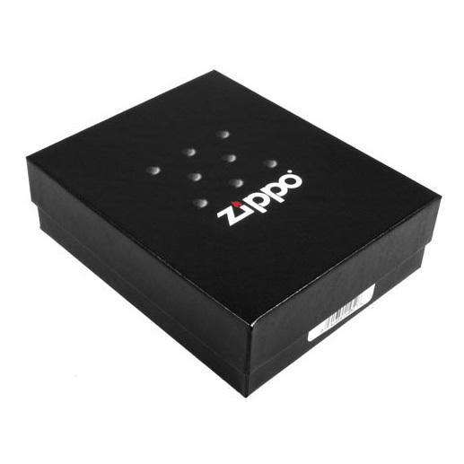 Зажигалка Zippo с покрытием Brushed Chrome, латунь/сталь, серебристая, матовая, 36x12x56 мм