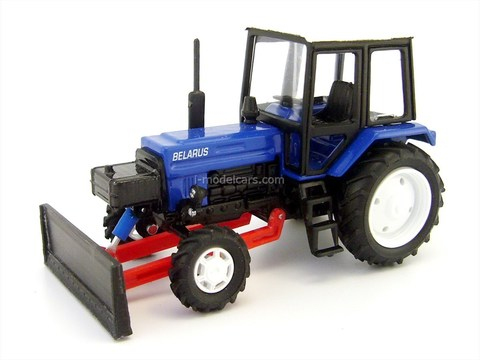 Bulldozer DZ-82 base MTZ-82 metal blue 1:43 Agat Mossar Tantal