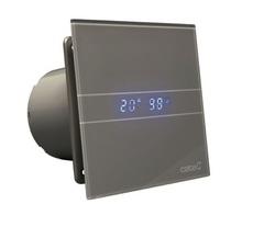 Вентилятор накладной Cata E 100 GSTH Серебро, с обратным клапаном (таймер, датчик влажности, термометр, дисплей)