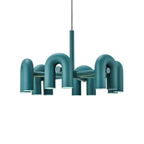 Подвесной светильник Cirkus by AGO Lighting (6 плафонов/синий)