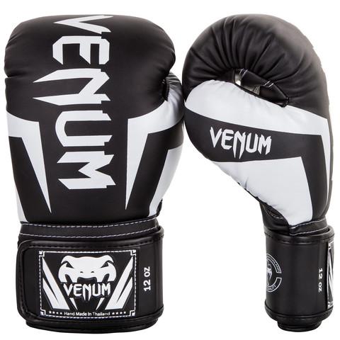 Перчатки для бокса Venum Elite Boxing Gloves Black/White